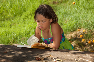 young girl reading