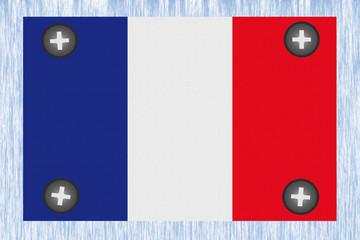Panneau Vissé - Drapeau français