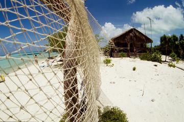 reti pescatori capanna cayo coco mare dei caraibi cuba