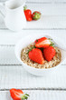 canvas print picture - Cereals with fresh berry