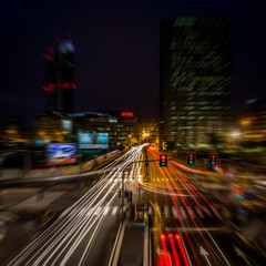 Milan city night light