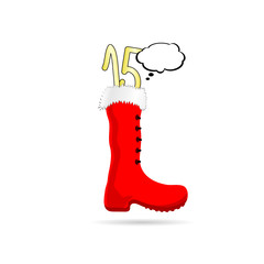 new year boot with 2015 color vector