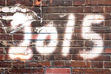 2015 on brick wall, street art style