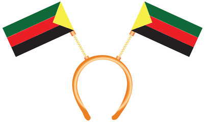 Azawad flag on the headdress