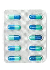 Pack of pills, isolated. Healthcare concept