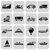 Fototapety Transport icons black set