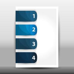 Illustration of modern design template