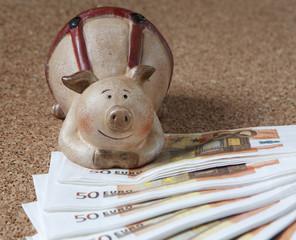 argent billets d'euros plaisir du gain
