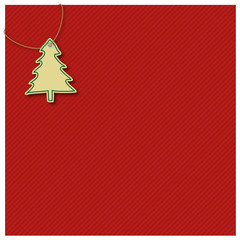 Gift wrap, red, christmas tree