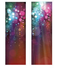 Vector glitter colorful banners.