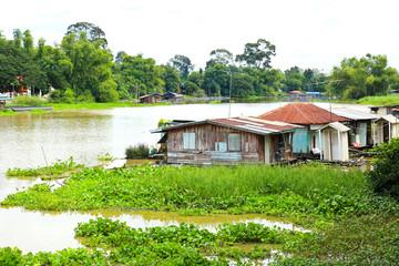 Thai Style Floating House ,Uthai Thani ,Thailand.