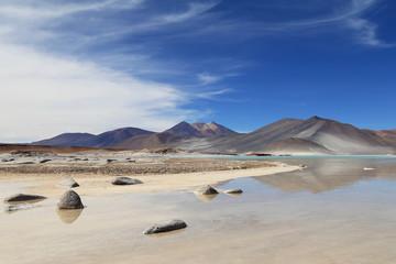 Salt Lake in Atacama desert, Chile