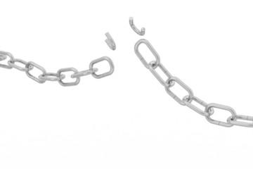 3d metal chain broken