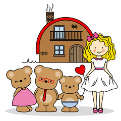 Goldilocks. children's story