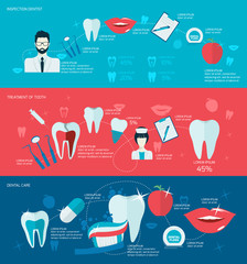 Teeth banner set