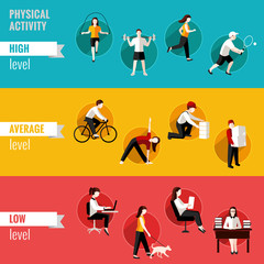Physical activity horizontal banners