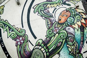 Graffiti personnage féerique