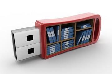 Usb drive with file folder