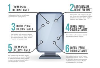 Billboard infographic vector illustration