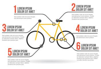 Bike infographic vector illustration