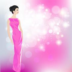 Women in evening dresses - Illustration