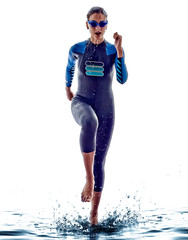 woman triathlon ironman swimmers athlete