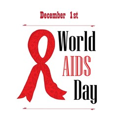 White poster for World AIDS Day awareness