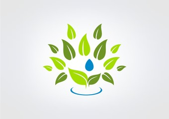 eaf Herbal Nutrition logo icon symbol vecto