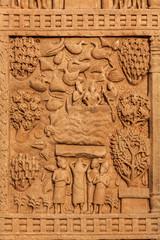 Gateway decoration Great Stupa. Sanchi, India