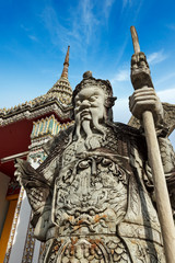 Wat Pho stone guardian, Thailand