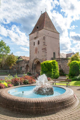 Porte de la ville de Rosheim, Bas Rhin, Alsace