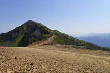 road in the mountains of the Caucasus