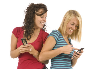 Teens Sharing Text Messages