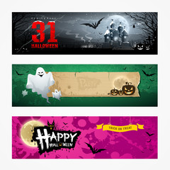 Happy Halloween banner collections design