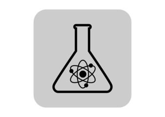 Laboratory glass icon