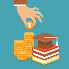 Vector invest in education concept