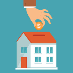 Vector investment concept in flat style