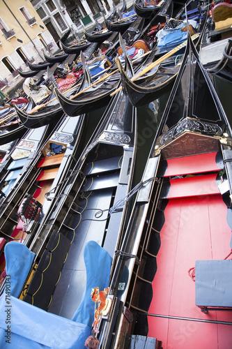 Fotobehang Gondolas Venetian gondolas