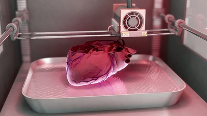 Human Heart printed by 3D Printer // 3D Visualization