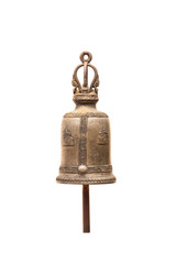 Brass bell in Thailand temple