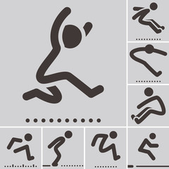 Long jump  icons
