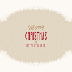merry christmas snow beige background