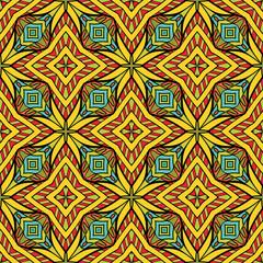 Colorful Oriental Seamless Pattern