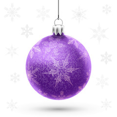 Christmas purple ball
