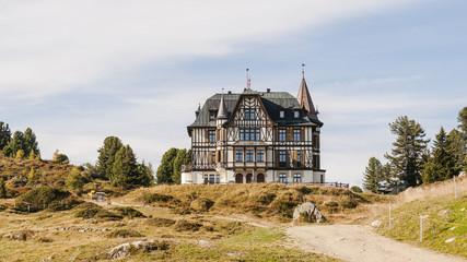 Riederalp, Bergdorf, Villa Cassel, Alpen, Aletsch, Schweiz