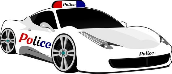 Coche de policía deportivo