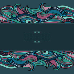 Candy Striped Waves Abstract Background