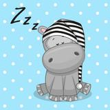 Fototapety Sleeping Hippo