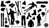 allski silhouettes