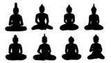 buddha silhouettes